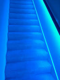 Banister Stair L E D Strip Lights Underneath Stair Banister Home Pinterest
