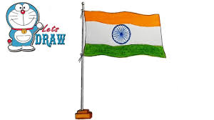 The Flag Of India How To Draw Indian Flag Step By Step Very Easy Youtube