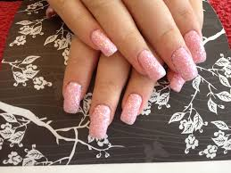 gel nails with pink gel polish and glitter dust nail designs for you