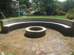 fire pit with seating wall four seasons landscape u0026 hardscape inc