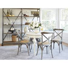 angelo home hillgate 5 piece dining set in antique white with