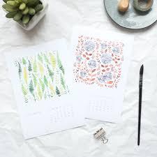 botanical calendars preorder 2018 calendar wall calendar a4 2018 calendar