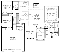 bright and modern single storey bungalow house plans with foyer 2