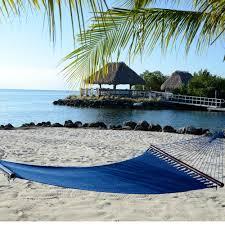 large blue soft spun polyester caribbean hammock