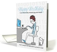 computer guy themed funny birthday card salonofart mewsings by