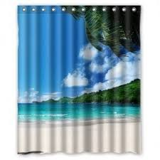 Curtain Vision Palm Tropical Shower Curtain Foter