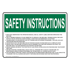 osha 1 read and understand the operation manual sign osie 25370