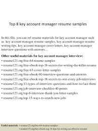 account manager resume exles top 8 key account manager resume sles 1 638 jpg cb 1429947428