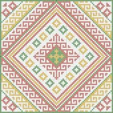 georgian ornaments for cross stitch or jacquard tricot вязание