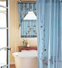 bathroom curtain ideas for windows beautiful blue bathroom window curtains ideas picture