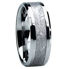titanium mens wedding band 8mm tungsten carbide with antler inlay c121m at mwb