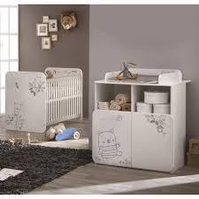 ensemble chambre bébé pas cher pack promo ensemble lit bébé 60 x 120 cm commode à langer nounours