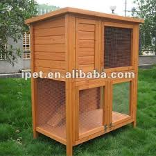 cheap large 4ft 2 tier outdoor wooden rabbit hutch plywood floor