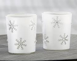 glass tea light holders sparkling snowflake glass tea light holder set of 4 my wedding