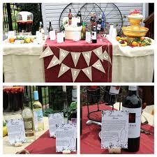 wine themed bridal shower wine themed bridal shower wine tasting table each bridesmaid