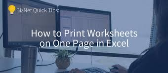 how to print worksheets on one page in excel bizblog