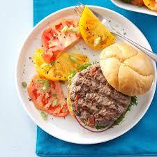 cajun thanksgiving spicy cajun salsa burgers recipe taste of home