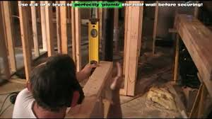 Half Wood Wall by Framing Basement Half Walls Youtube