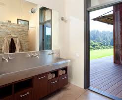 bathroom trough sink powder room contemporary with bathroom