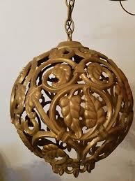 hollywood regency swag l vtg chic retro l bronze hanging glass globe swag regency
