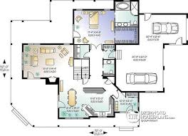 Floor Plans With 3 Car Garage House Plan W3832 Detail From Drummondhouseplans Com