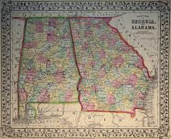 Map Of Al Map Of Georgia And Alabama 1869