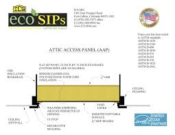attic access panels ics eco sips a better way to build