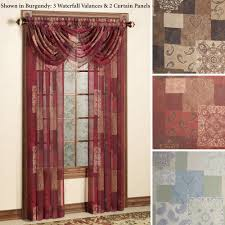 Sheer Maroon Curtains Sheer Window Treatment