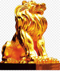 gold lion statue lion photography lion gold lion taobao material png