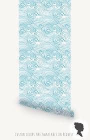 waves removable wallpaper traditional or self adhesive