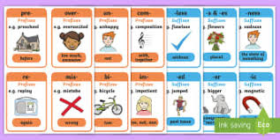 ks2 prefixes and suffixes primary resources words page 2