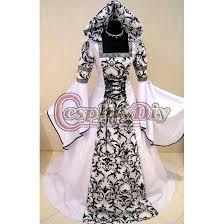 custom made white and black medieval avictorian renaissance gothic