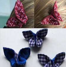 butterfly hair butterfly hair origami with fabric 4 steps with pictures