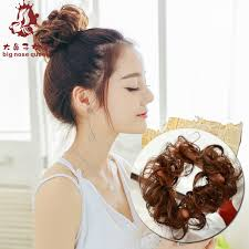 chignon tool 25 colors women wavy elastic chignon hair bun curly donut roller