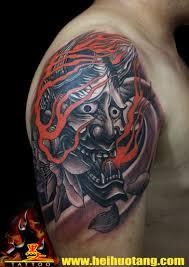 japanese demon tattoo by heihuotang tattoo