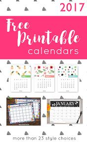 printable calendars free 2017 free printable calendars crafting in the rain