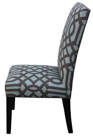 fresh blue upholstered dining chair in room board chairs with