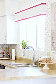 kitchen painted herringbone backsplash nice a mess diy kitchen