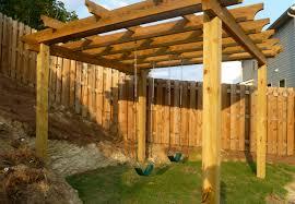 Backyard Swing Set Plans by Pergola Swing Set Plans Furnitureplansfurnitureplans Yard Play