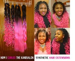 kanekalon crochet hairstyles how to curl synthetic hair with flexi rods foam rollers hot pink