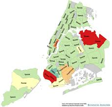 New York City Attractions Map by Nyc Non English Language Maps Business Insider