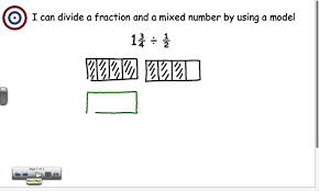 divide mixed number by fraction using a model youtube