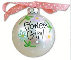 flower girl christmas ornament personalized flower girl ornament by regalrhinestones on etsy