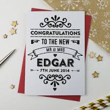 congratulations on your marriage cards personalised wedding cards notonthehighstreet
