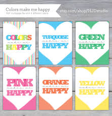 color of happy printable colors make me happy howjoyful a lettering