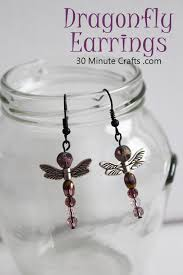 easy earrings easy dragonfly earrings in less than 15 minutes 30 minute crafts
