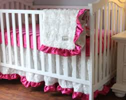 Fancy Crib Bedding White Baby Bedding Etsy