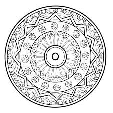 mandala to color flowers vegetation to print 7 mandalas with