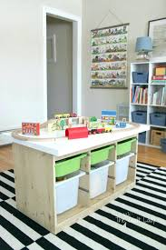 playroom table with storage ikea trofast playroom ideas tables hacks storage home design games