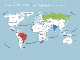 world map image with country names and capitals editable powerpoint world map kit map templates with continents
